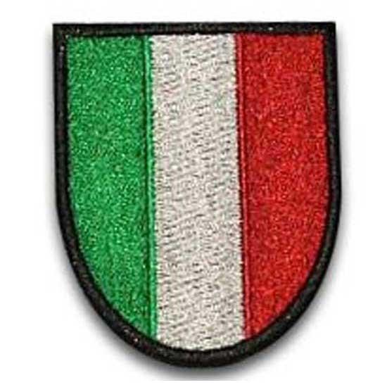 Scudetto Italia tricolore con supporto in velcro versione 2
