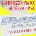 Striscione pubblicitario in PVC anellato cm 100 x cm 60