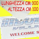 Striscione pubblicitario in PVC anellato cm 300 x cm 100