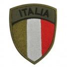 Scudetto Italia bassa visibilità con supporto in velcro