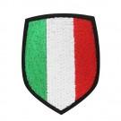 Scudetto Italia tricolore con supporto in velcro
